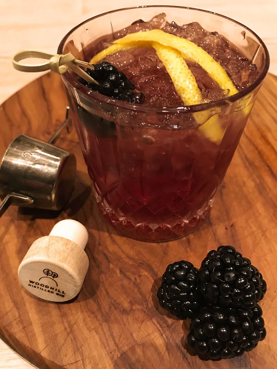 Bramble Special gin drinks woodhill gin | Woodhill Gin