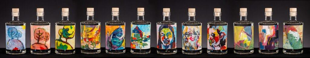Kunstflasker samlet | Woodhill Gin